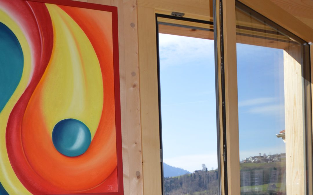 25. Mai 2018: Ein Mondholzfenster entsteht